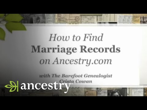 How to Find Marriage Records on Ancestry.com   Ancestry - YouTube