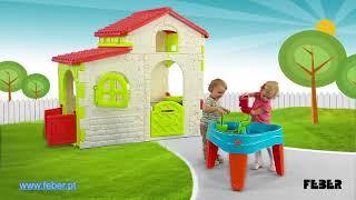 Smėlio ir vandens stalas su dangčiu 2in1 | Play Island | Feber 10238