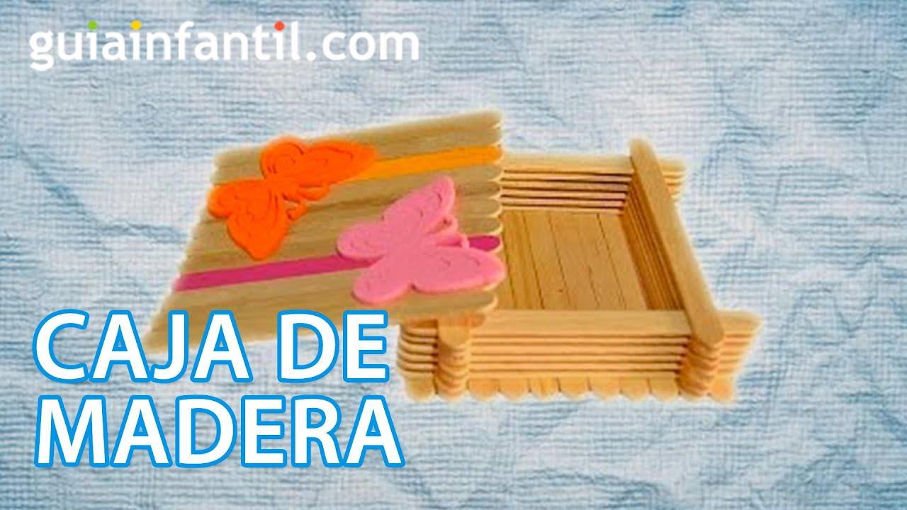 Caja de madera decorada. Manualidad de reciclaje