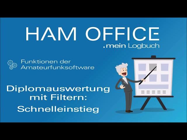 Youtube-Startbild zu HAM OFFICE Funktionen: Diplomauswertung mit Filtern - Schnelleinstieg