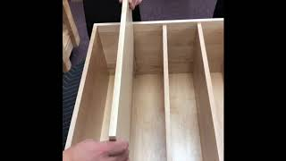 Removable And Adjustable Drawer Dividers By Eagle Woodworking Custom Dovetail Drawers
