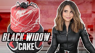 MARVEL BLACK WIDOW CAKE - NERDY NUMMIES thumbnail