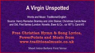 A Virgin Unspotted - Christmas Carols Lyrics & Music