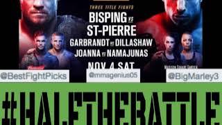 UFC 217: Bisping vs GSP Bets, Picks, Predictions on Half The Battle