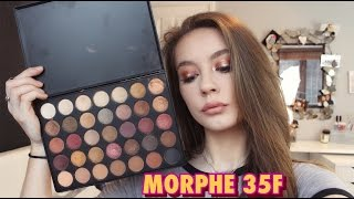 Morphe 35F | Halo Eye tutorial | swatches | review