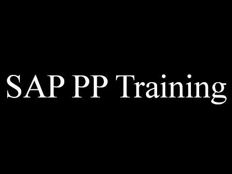SAP PP Training - MRP1 (Video 17) | SAP PP Production Planning ...