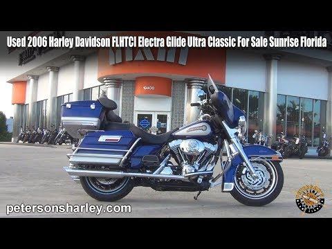 Used 2006 Harley Davidson FLHTCI Electra Glide Ultra Classic For Sale Sunrise Florida