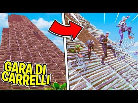 Fortnite ITA - LA GARA CON I CARRELLI PIU' RIPIDA DI SEMPRE!!