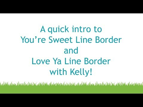 Lawn Fawn - You're Sweet Line Border, Stanssisetti