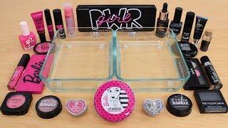 Pink vs Black - Mixing Makeup Eyeshadow Into Slime! Special Series 188 Satisfying Slime Video