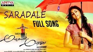 Saradale song Lyrics - Abbayitho Ammayi