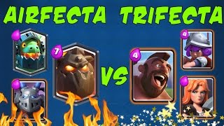 Clash Royale: MAX AIRFECTA vs MAX TRIFECTA [Tutor vs Ash]