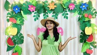 Easy Diy Tropical Theme Birthday Party Decoration | Hawaiian Parties Ideas