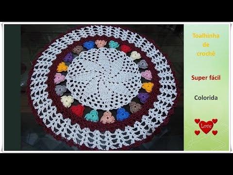 Toalhinha de crochê super fácil e colorida