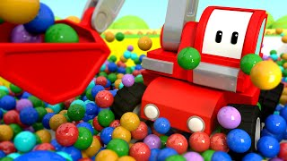 Tiny Trucks - The FUNAIR - Kids Animation with Street Vehicles Bulldozer, Excavator & Crane
