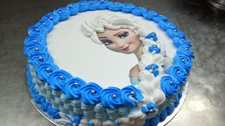 Frozen Elza Photo Cake Easiest Ever