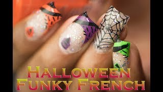 Halloween Funky French Nail Art (MoYou London)