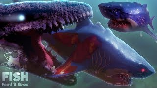 Feed and Grow Fish - A SEA MONSTER REBORN!! - NEW Megalodon, Fish & Multiplayer Update - Gameplay