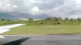 preview picture of video 'Landing of Garuda Indonesia's B737-500 at Supadio Airport'