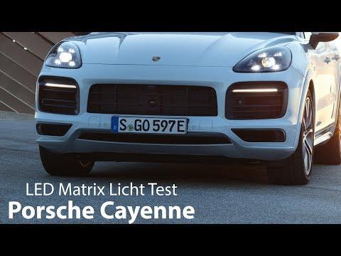 Porsche Cayenne LED-Matrix-Hauptscheinwerfer inkl. Nachtsicht-Assistent Test [4K] - Autophorie