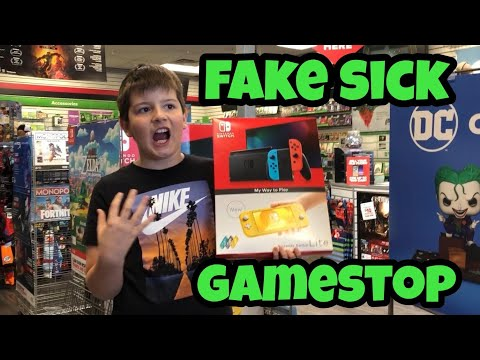 Kid Temper Tantrum Faking Sick To Skip School For NEW Nintendo Switch Lite At Gamestop - BUSTED!