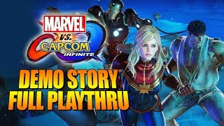 MARVEL VS. CAPCOM INFINITE: Full Story Demo - 1st Time!