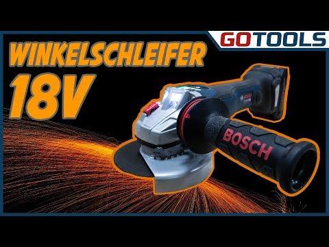 18V Bosch Akku Winkelschleifer - GWS 18V-10 SC & PSC mit PROCORE 8,0AH