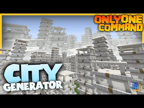 City Generator With Only One Command Block Create Your Own Towns - Minecraft haus bauen cheat