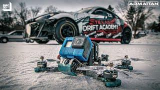 ❄Pro Drifters on Madison Lake MN❄ | FPV Drone