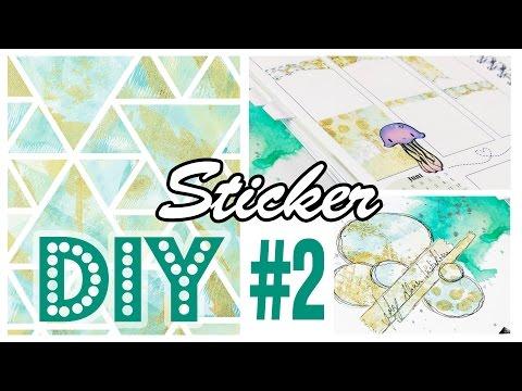[DIY] Sticker selbermachen #2 | Gelli Plate Monoprint