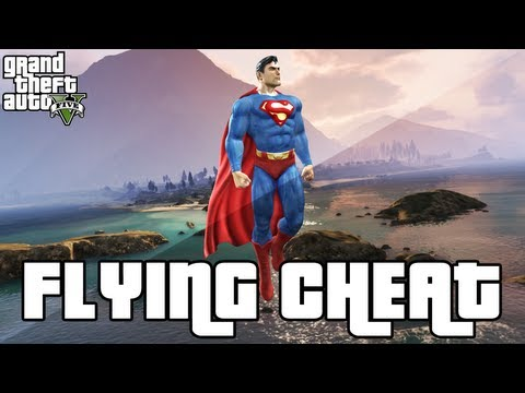 GTA 5 Flying Cheat - Superman Flying Cheat Code (GTA 5 Cheats) - Xbox 360 & PS3