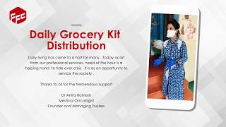 Groceries distribution for the needy