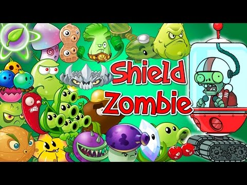 Plants vs Zombies 2 All Plants Power Up vs SHIELD | Youtube