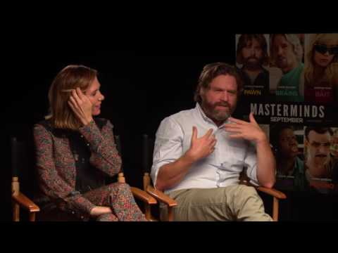 "Zach Galifianakis & Kristen Wiig Official Interview For ""Masterminds"" Movie"