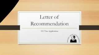o1 visa recommendation letter - मुफ्त ऑनलाइन
