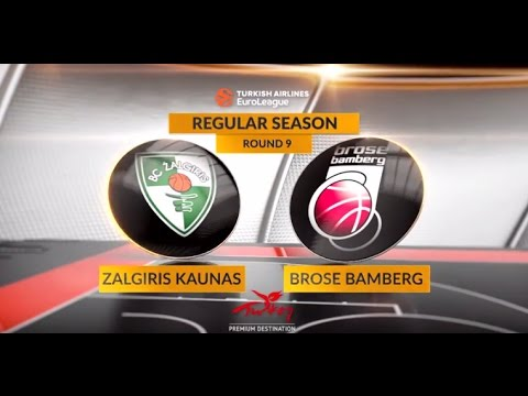 EuroLeague Highlights RS Round 9: Zalgiris Kaunas 86-72 Brose Bamberg