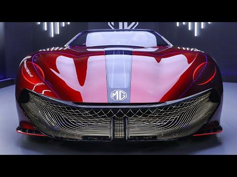 MG「サイバースターコンセプト」実車公開動画!電気自動車で3秒以内に0-100km/hに到達するパフォーマンス
