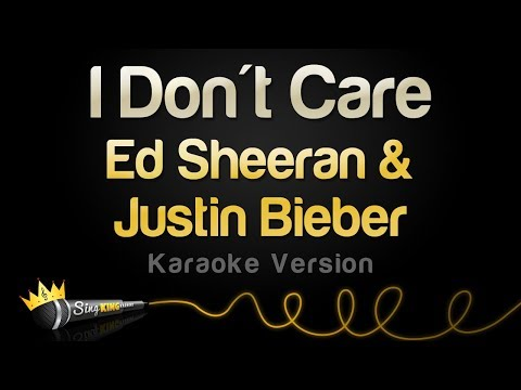 Ed Sheeran & Justin Bieber - I Don't Care (Karaoke Version)