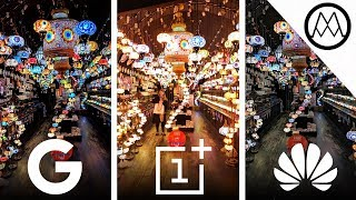 Google Pixel 3 Night Sight vs OnePlus 6T vs Huawei Mate 20 Pro Night Mode Camera TEST