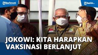 Jokowi: Kita Harapkan Vaksinasi Berlanjut, Penyebaran Covid-19 Bisa Dihambat