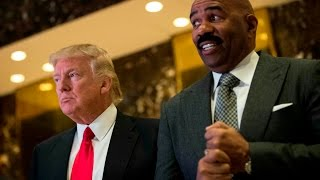 Steve Harvey meets with Donald Trump and talks inner cities