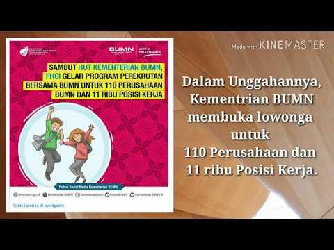 #LowonganKerja 2019 BUMN Rekrut Karyawan besar-besaran