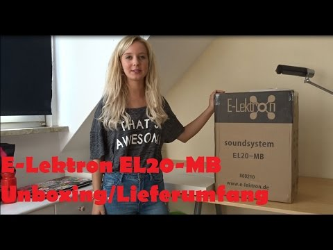 Mobile PA-Anlage E-Lektron EL20-MB [Unboxing/Lieferumfang]