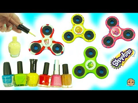 DIY Nail Polish Painted Shopkins Inspired Fidget Spinners – Do It Yourself Craft Video