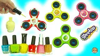 DIY Nail Polish Painted Shopkins Inspired Fidget Spinners - Do It Yourself Craft Video