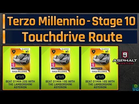 Asphalt 9 Terzo Millennio Mega Event Stage 10 Touchdrive Route