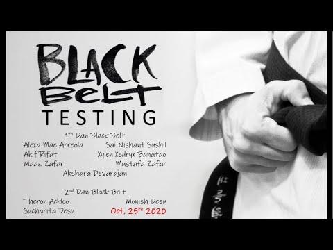 2020 Oct Black Belt Testing Part 1 - YouTube