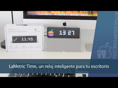 LaMetric Time, un reloj inteligente para tu escritorio