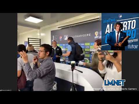 ¡En vivo! - Alberto Gamero es presentado como nuevo DT de Millonarios