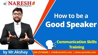 How to be a Good Speaker | English Communication Skills Tutorial | Mr. Akshay